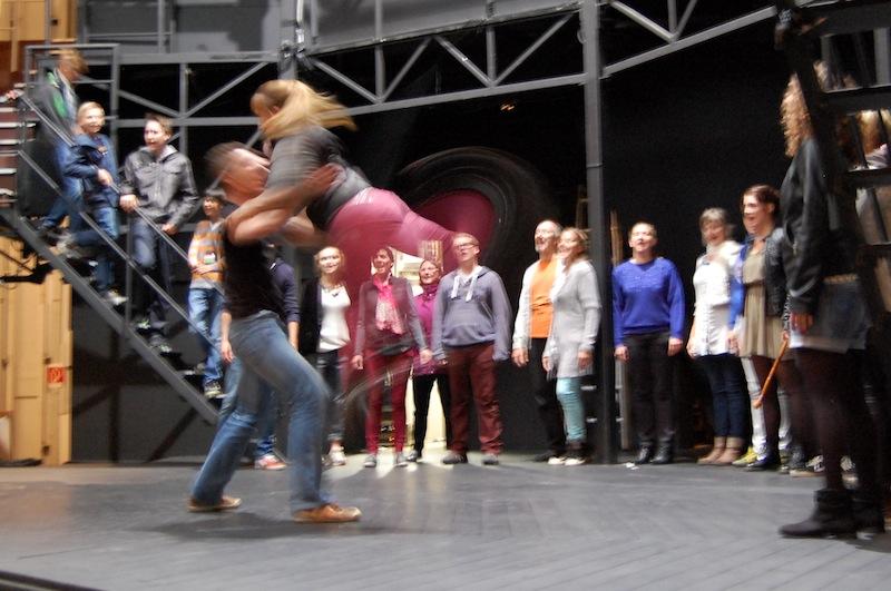 Vom Probenraum auf die Bühne - vor der Premiere am 20. September wird nun im Globe Theater Neuss geprobt