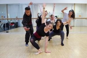 Tanzprobe des Fame-Ensembles in der Alten Post