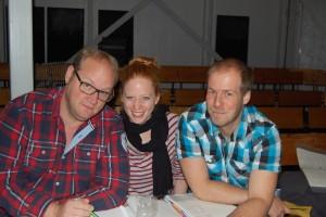 Regie, Tanz und musikalische Leitung liegen bei (v. l.) Sven Post, Tanja Emmerich und Eddy Schulz in besten Händen.