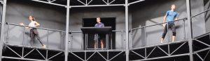 Probe jetzt im Globe! Wenn andere Urlaub machen - arbeitet das Ensemble der Neusser Musical-Wochen unter Hochdruck! Die Ferien werden jetzt dazu genutzt, nach vielen Probemonaten in der Alten Post und im RomaNEum jetzt endlich am Aufführungsort alle Szenen durchzuspielen. Die Premiere am 8. September ist nicht mehr weit...